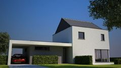 Keramisch passiefhuis Met traditionele spouwconstructie