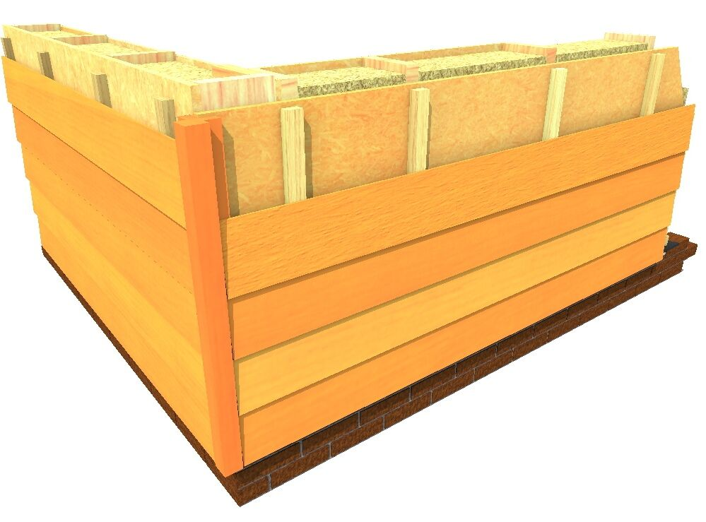 Gevelbekleding houtskeletbouw