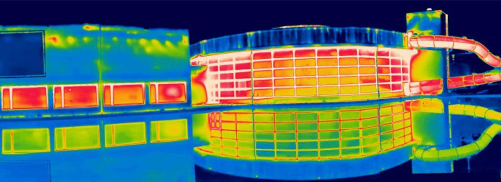 Thermografisch beeld zwembad